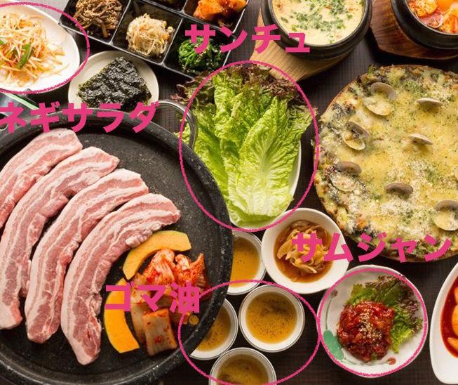 サムギョプサルの食材