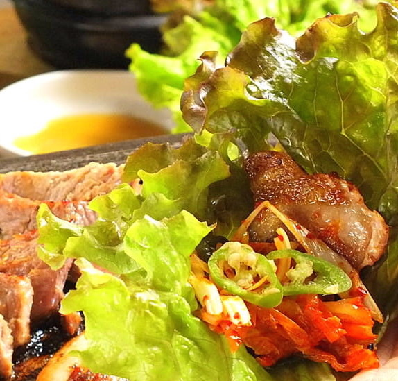 サムギョプサルの食べ方