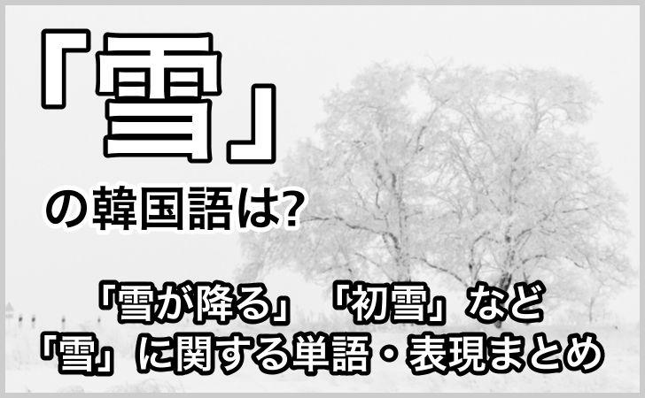 「雪」の韓国語