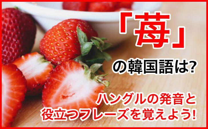 「苺」の韓国語