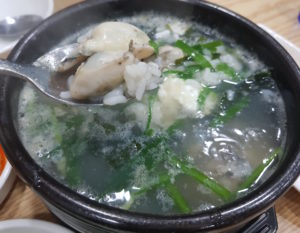 牡蠣のクッパ